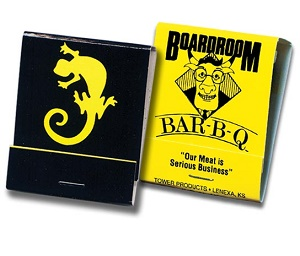 Custom Black and Yellow  20 Stick Matchbook