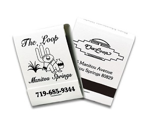 Custom Black on White 20 Stick Matchbook