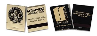 Custom Gold Foil and Black  20 Stick Matchbook