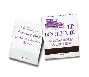Custom Purple on White 20 Stick Matchbook