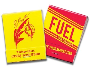 Custom Red and Yellow  20 Stick Matchbook