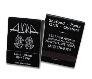 Custom White Copy On Reverse Black Matchbook