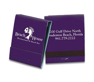 Custom 20 Strike White Copy On Reverse Purple Matchbook