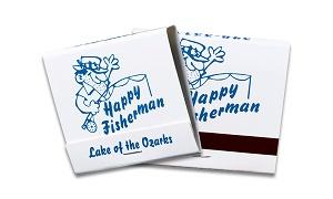 Custom Blue on White 30 Stick Matchbook