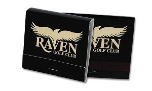 Custom Gold Foil and Black  30 Stick Matchbook