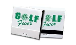 Custom Green on White 30 Stick Matchbook