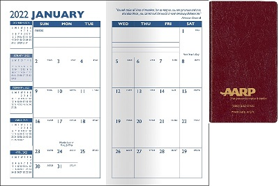 Inspiration Monthly Pocket Planner View When Open