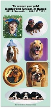 Sticker Sheets of Dogs