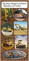 Heavy Equipment Sticker Sheets