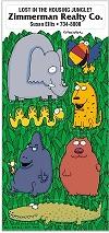 Funny Jungle Animal Sticker Sheets