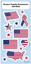 Sticker Sheets of Flags and Americana
