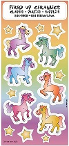 Colorful Ponies Sticker Sheets
