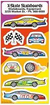 Race Cars Sticker Sheets