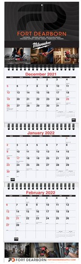 Small Quarterly Three Month at a Glance Calendars