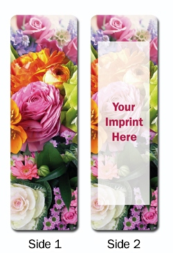 Floral Personalized Bookmarks