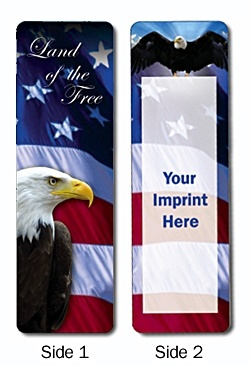 Eagle and Flag Political Bookmark