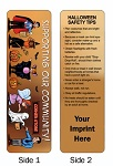 Halloween Safety Tips Bookmark with Custom Imprint