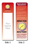 Medical Office - Heart Attack Symptoms Bookmark with Custom Imprint