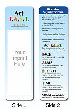 Stroke Symptoms Bookmark