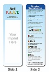 Health and Wellness - Stroke Sympton Bookmarks with Custom Imprint