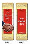 Thank You Bookmark with Custom Imprint