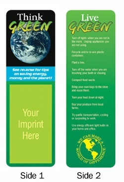 Think Green Bookmark