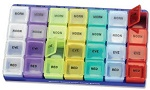 Morn/Noon/Eve/Bed Super Pill Organizer