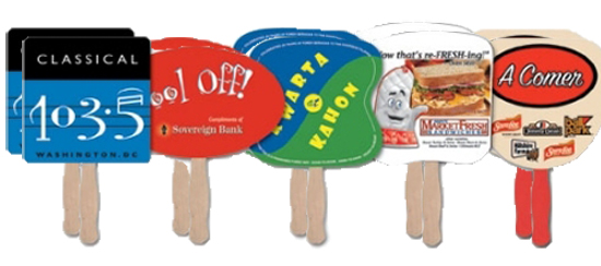 Sample Handfans with Customized Message