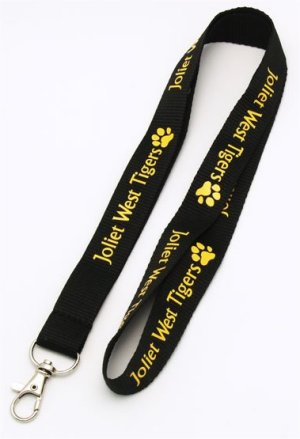Example of a Flat Polyester Lanyard with Clip Attachment. The Lanyard can be customized and there are several attachments to chose from. Call 706-258-7041 for assistance and a Free Quote.