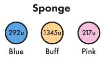 Compressed Sponge Color Options