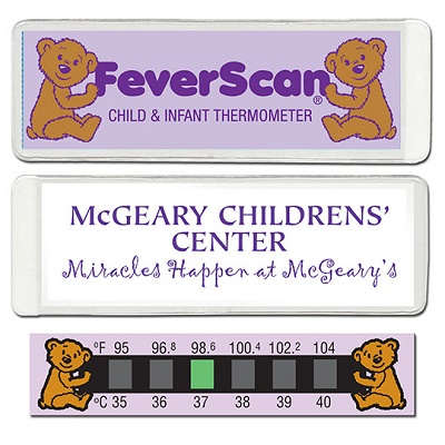 Baby Bear Feverscan Thermometer in 1/4 Wallet Size