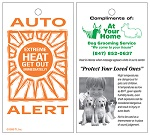 Thermometer Cards - Car Interior Temperature Alert Card