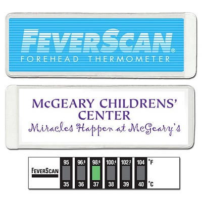 Dual Scale Feverscan Thermometer in 1/4 Wallet