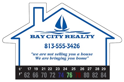 Large House Thermometer Magnet