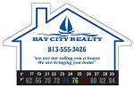 Real Estate - Large House Thermometer Magnet