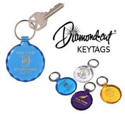 Diamond Cut Key Tag