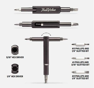 6 in 1 Multi Use Screwdriver open