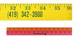 Promotional Customized Tools - Personalized Wooden Yardsticks