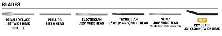 Specialty Blades for Pocket Screwdriver