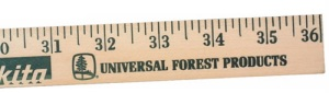 Personalized Natural Finish Yardstick