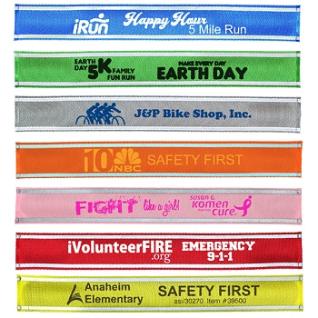 Nylon Reflective Snap Wristbands