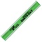 Green Nylon Reflective Snap Wristbands
