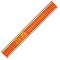 Orange Nylon Reflective Snap Wristbands