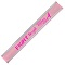 Pink Nylon Reflective Snap Wristbands