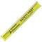 Yellow Nylon Reflective Snap Wristbands