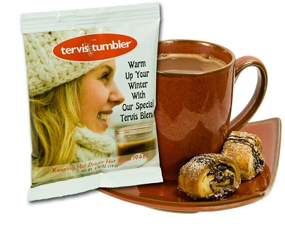 Custom Imprinted Hot Chocolate - Single Serving - Full Color