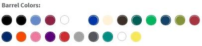Barrel Colors for Bic Clic Stic Pens