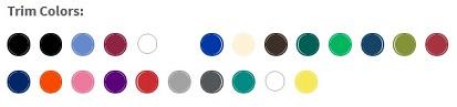 Trim Colors for Bic Clic Stic Pens