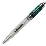 Promotional Customized Light Pens - Green Aurora Light-Up Pen