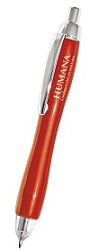 Sample Red Imprinted Triple Click Lighted Pen